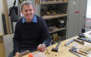 Nick in his workshop