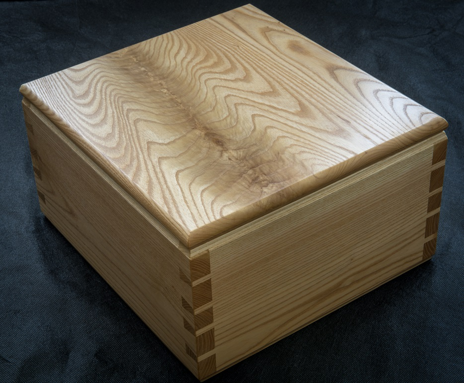 Simple wooden box or urn