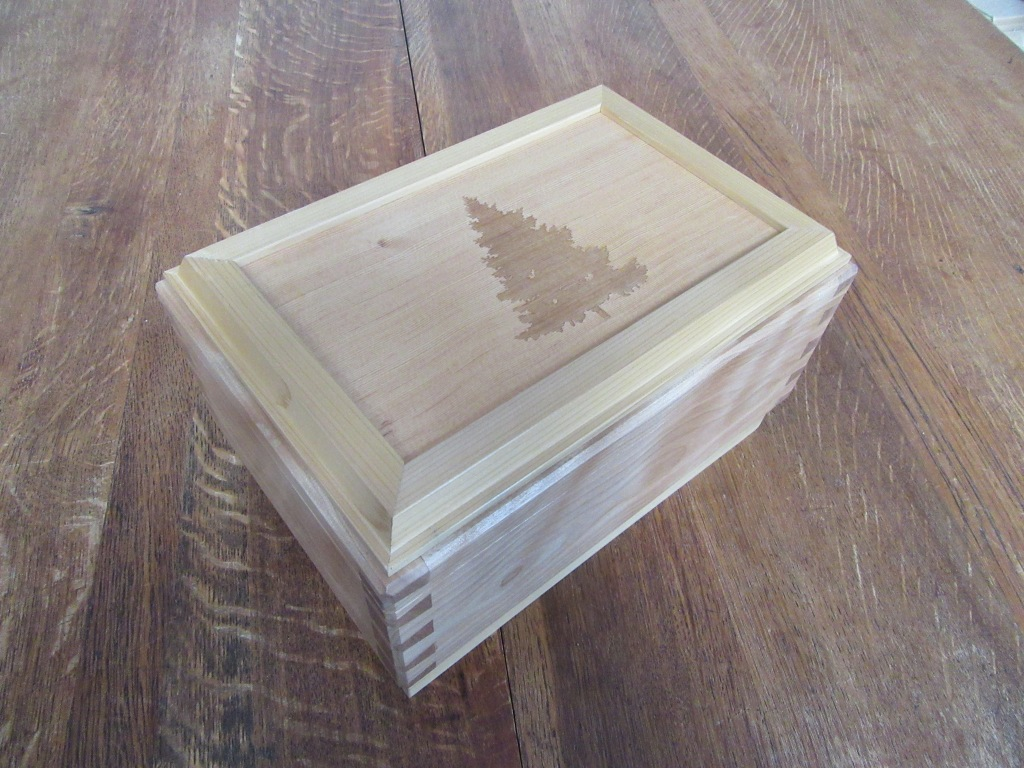 Cedar and birch keepsake box