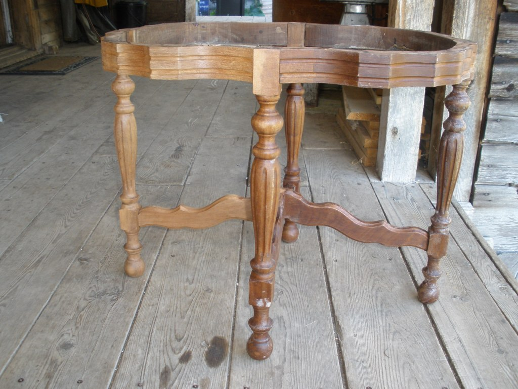 Coffee table prior to restoration