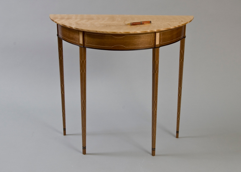 Elegant demilune table