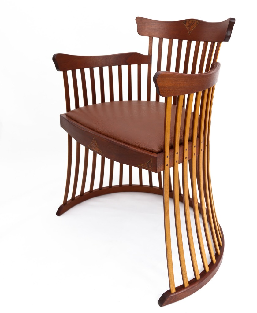 Sideview of Lobster Trap Chair