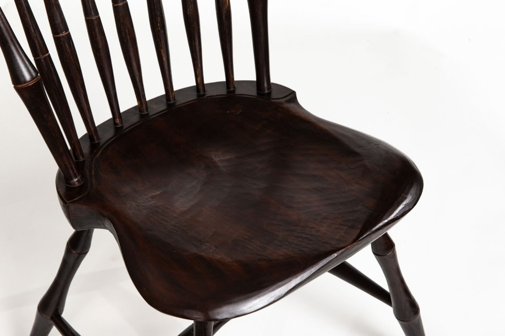 Seat of Windsor kitchen chair
