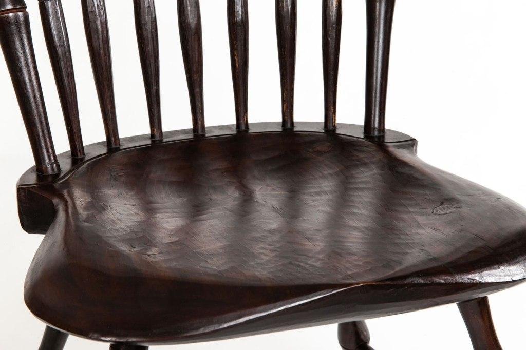 Seat of Windsor chair